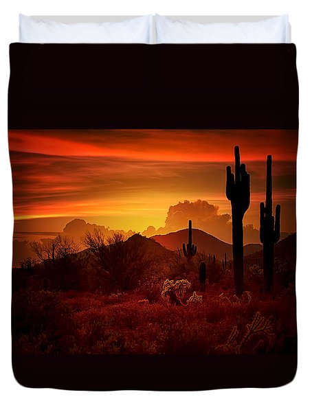 The Essence Of The Southwest Duvet Cover by Saija  Lehtonen