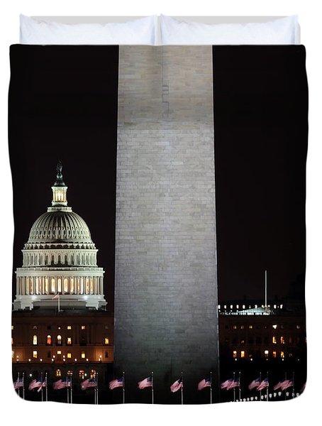 The Essence Of Washington At Night Duvet Cover