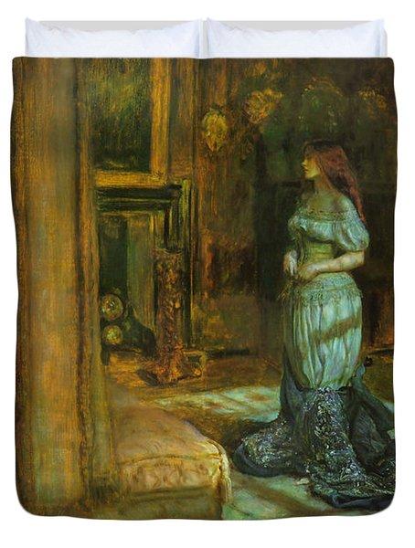 The Eve Of St Agnes Duvet Cover by John Everett Millais