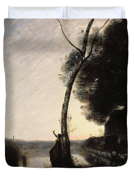 The Evening Star Duvet Cover by Jean Baptiste Camille Corot