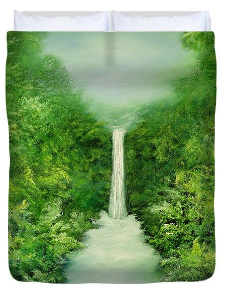 The Everlasting Rain Forest Duvet Cover by Hannibal Mane