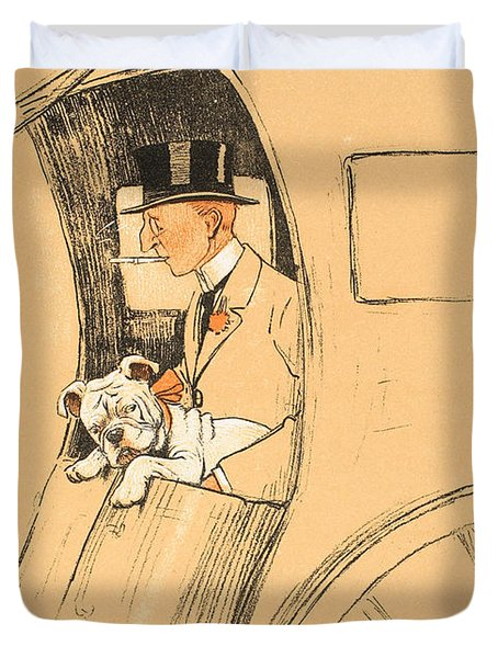 The Extra Passenger Duvet Cover by Cecil Charles Windsor Aldin
