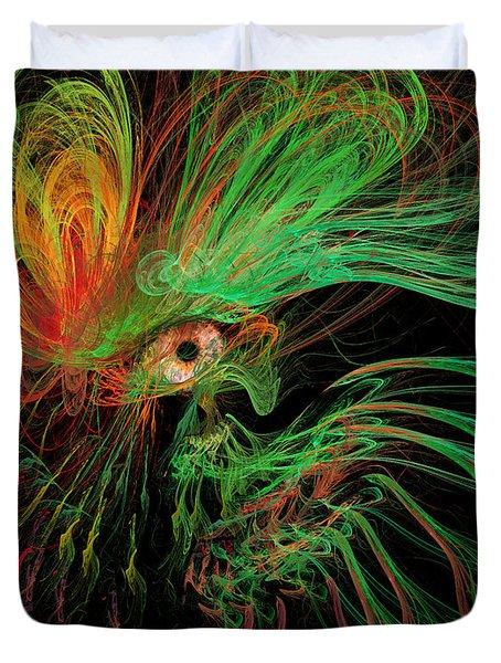 The Eye Of The Medusa Duvet Cover by Angela A Stanton