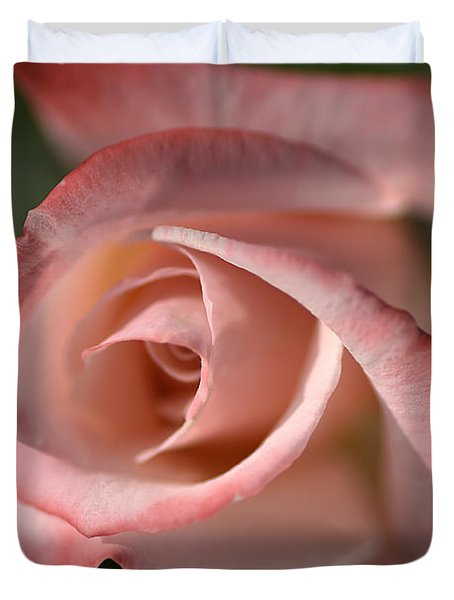The Eye Of The Rose Duvet Cover by Joy Watson