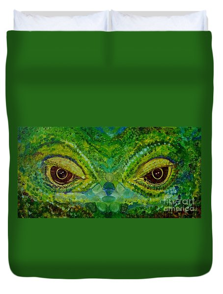 The Eyes Have It Duvet Cover by Julie Brugh Riffey