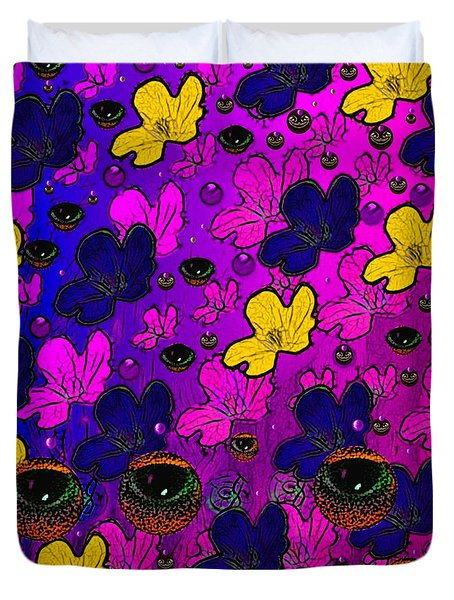 The Eyes Of Mother Nature Serve And Protect Duvet Cover by Pepita Selles