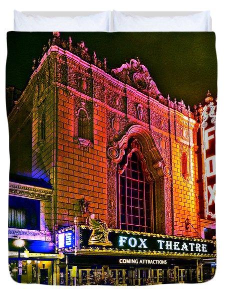 The Fabulous Fox In St. Louis Duvet Cover