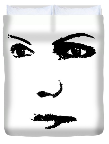 The Face Duvet Cover by Cherise Foster