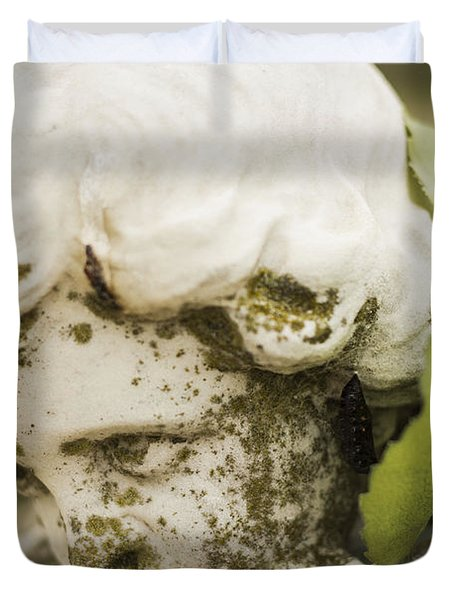 Duvet Cover featuring the photograph The Face Of An Angel by Amber Kresge