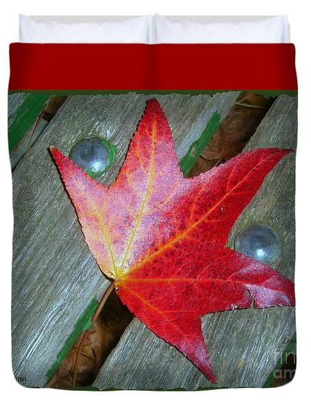 Duvet Cover featuring the photograph The Face Of Autumn by Leanne Seymour