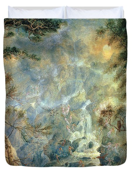 The Fairy Falls, 1908 Duvet Cover