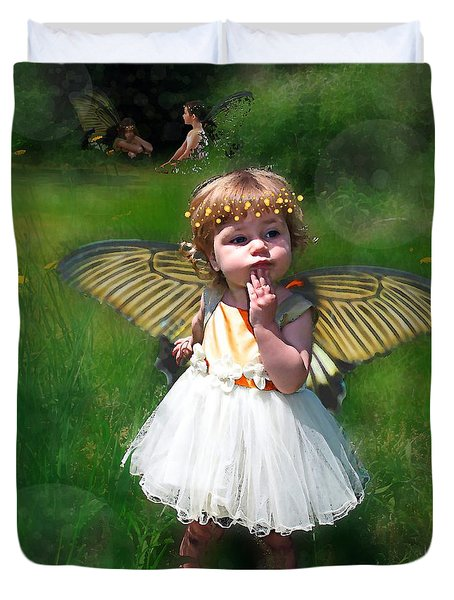 Duvet Cover featuring the photograph The Fairy Garden by I'ina Van Lawick