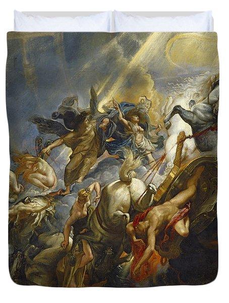 The Fall Of Phaeton Duvet Cover by  Peter Paul Rubens