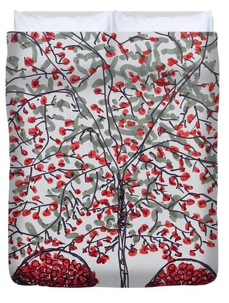 The Famous Door County Cherry Tree Duvet Cover