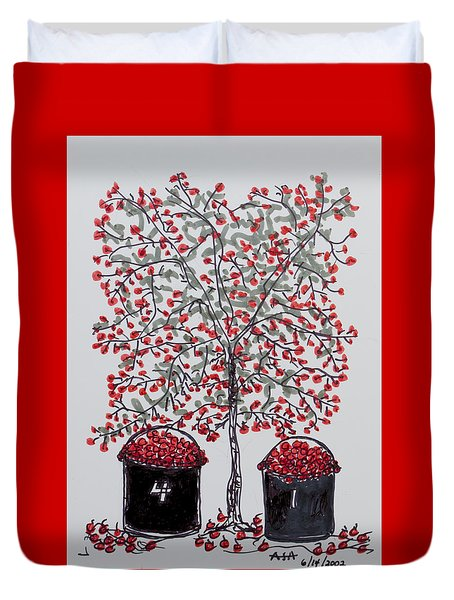 The Famous Door County Cherry Tree Duvet Cover