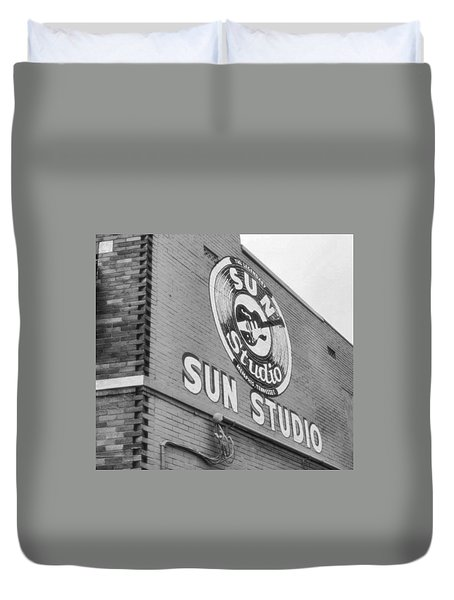 The Famous Sun Studio In Memphis Tennessee Duvet Cover by Dan Sproul