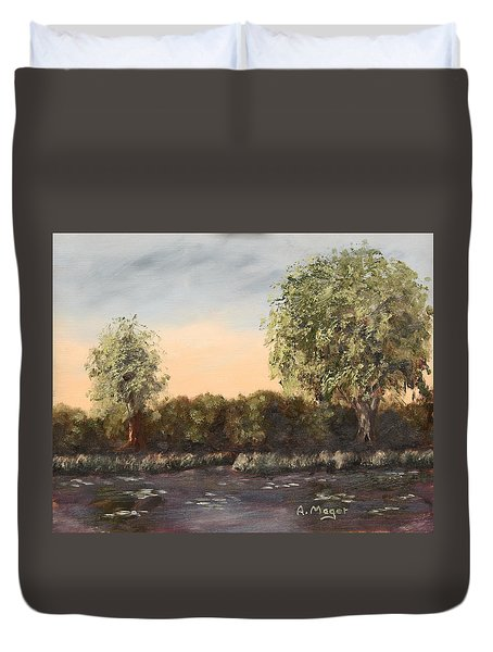The Far End Of The Pond Duvet Cover