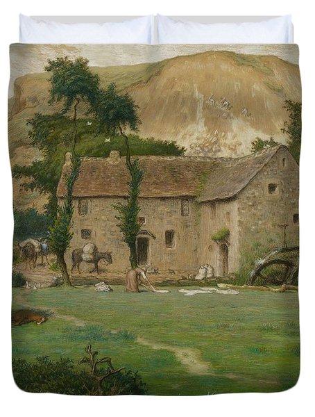 The Farm House Duvet Cover by Jean Francois Millet