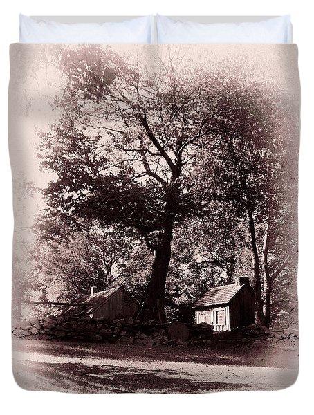 Duvet Cover featuring the photograph The Farm Bristol Rhode Island by Tom Prendergast