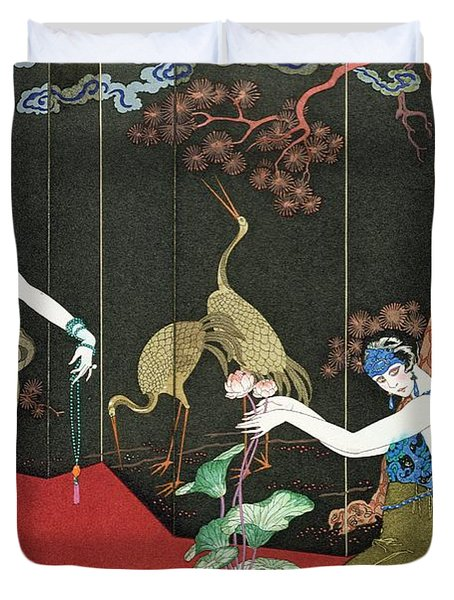 The Fashion For Lacquer Duvet Cover by Georges Barbier