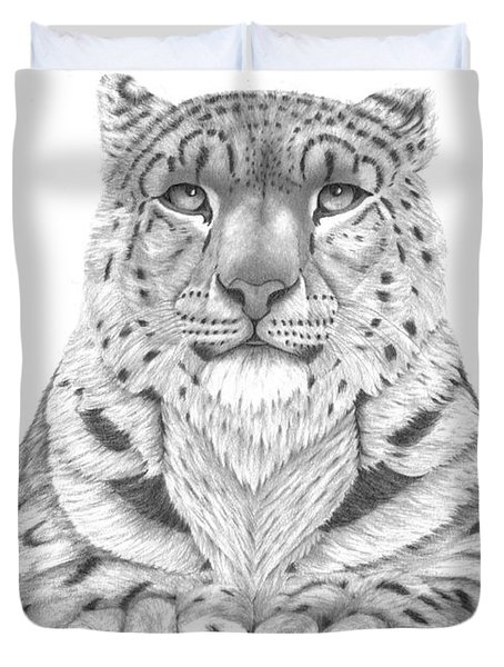 The Fearless Tiger Duvet Cover by Patricia Hiltz