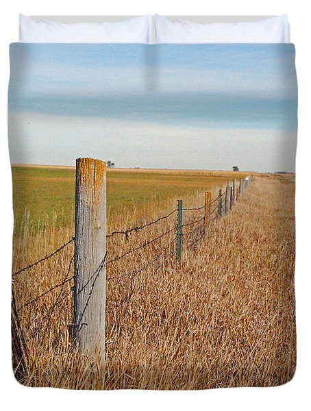 The Fence Row Duvet Cover by Mary Carol Story