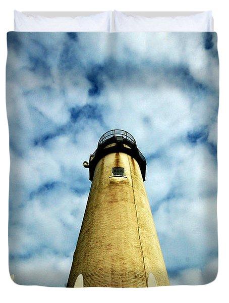 The Fenwick Light And A Mackerel Sky Duvet Cover