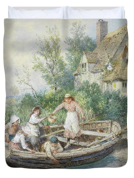 The Ferry Duvet Cover by Myles Birket Foster