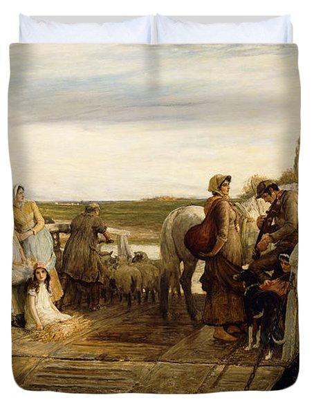 The Ferry Duvet Cover by Robert Walker Macbeth
