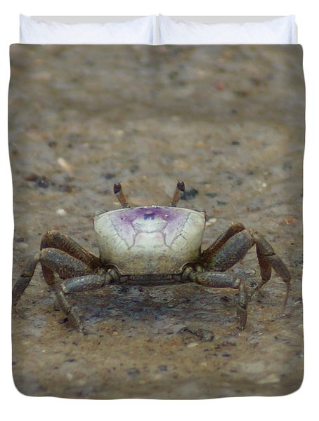 The Fiddler Crab On Hilton Head Island Duvet Cover