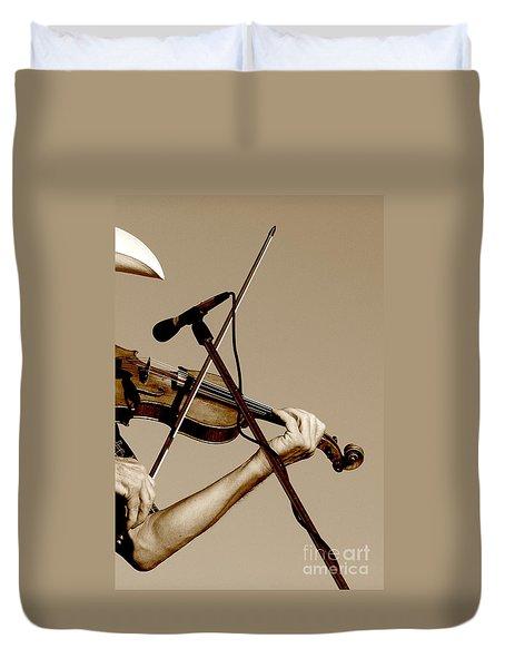 The Fiddler Duvet Cover by Robert Frederick