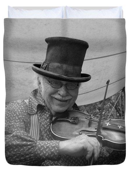 The Fiddler Duvet Cover by Sara  Raber