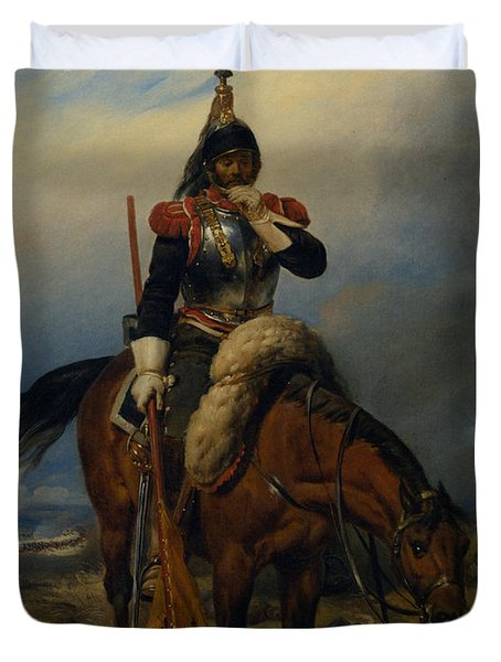 The Field Of Battle Duvet Cover by Paul  Delaroche