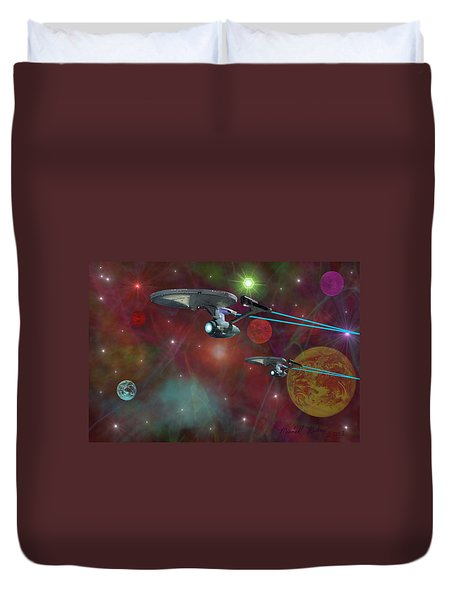 The Final Frontier Duvet Cover by Michael Rucker