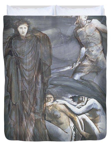 The Finding Of Medusa, C.1876 Duvet Cover