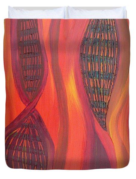 The Fire Molecule Duvet Cover by Daina White