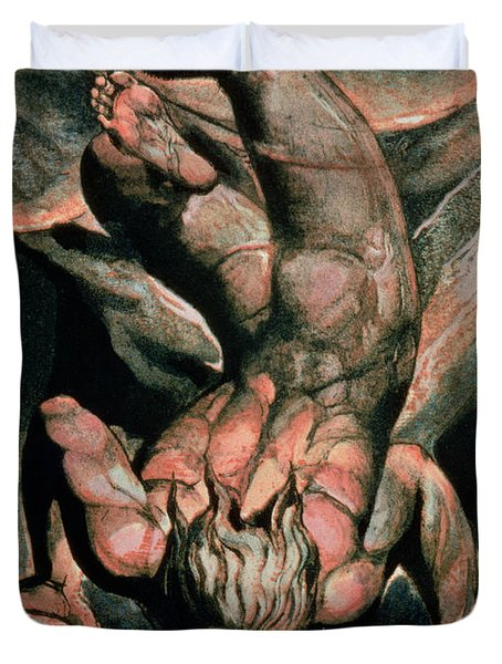 The First Book Of Urizen Duvet Cover by William Blake