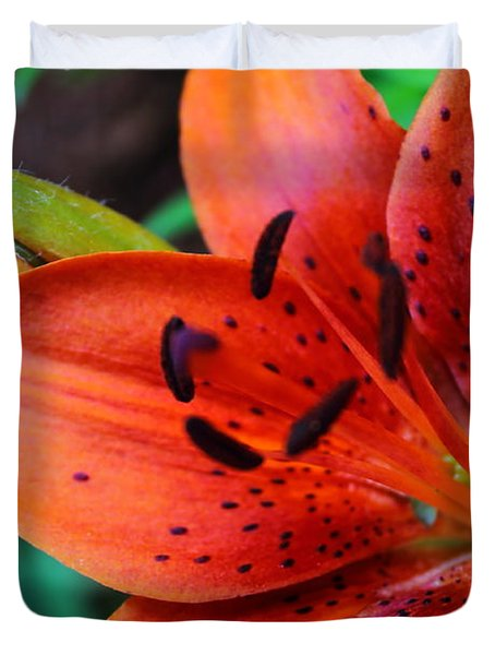 The First Lily Duvet Cover