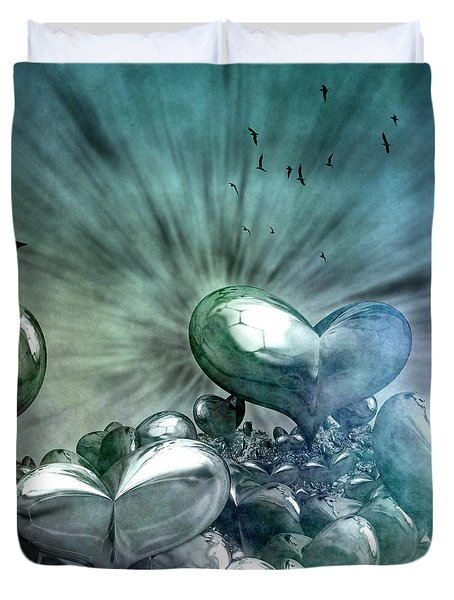 Lost Hearts Duvet Cover by Gabiw Art