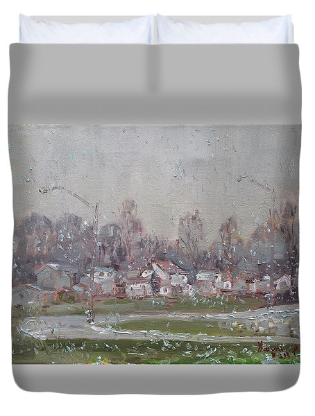 The First Snowflakes Of The Season  Duvet Cover