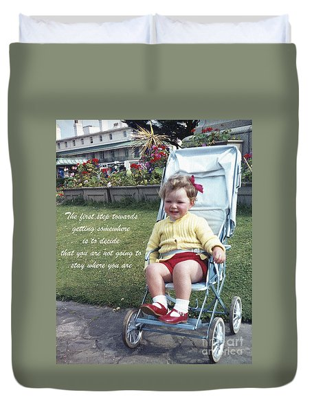 The First Step Duvet Cover by Terri Waters
