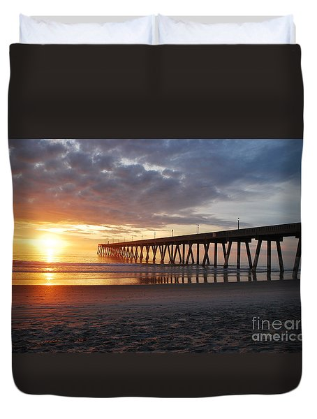 The First Sunrise Duvet Cover by Bob Sample