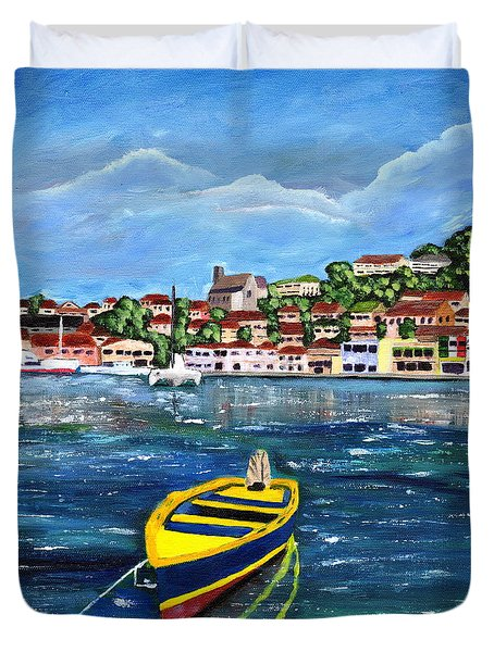 The Fishing Boat  Duvet Cover
