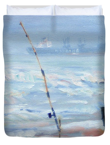 The Fishing Man Duvet Cover