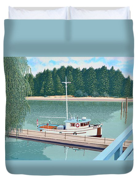 The Converted Fishing Trawler Gulvik Duvet Cover