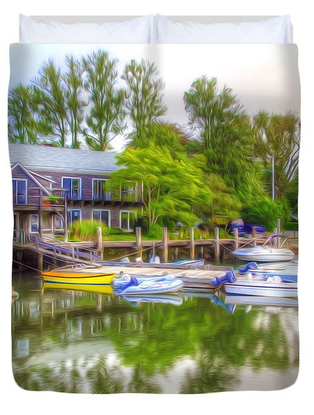 The Fishing Village Duvet Cover by Lanjee Chee