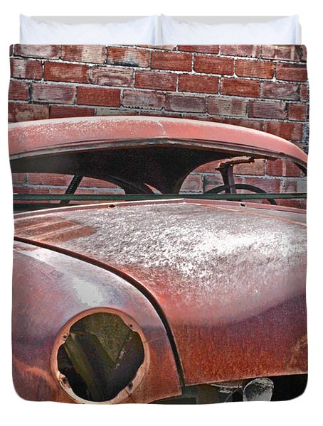 Duvet Cover featuring the photograph The Fixer Upper by Lynn Sprowl