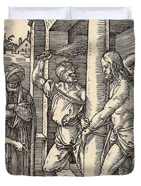 The Flagellation Duvet Cover by Albrecht Durer