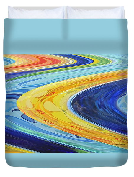 Duvet Cover featuring the photograph The Flow by Kenny Francis