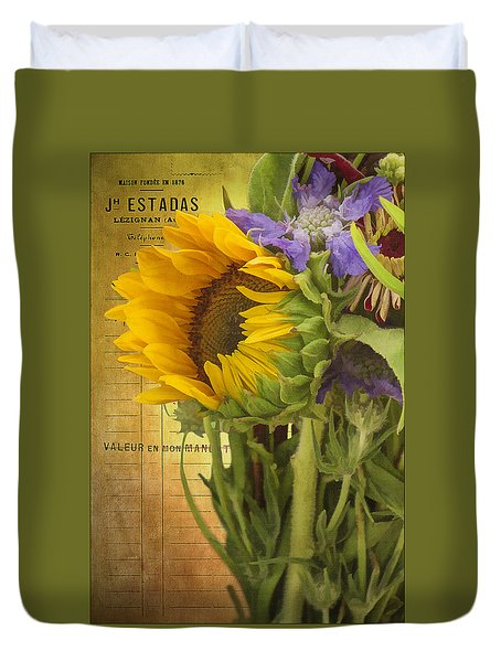 The Flower Market Duvet Cover by Priscilla Burgers